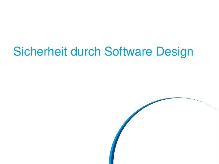 Sicherheit durch Software Design
