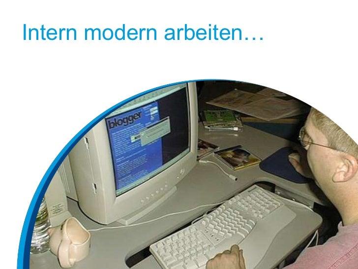 Intern modern arbeiten…