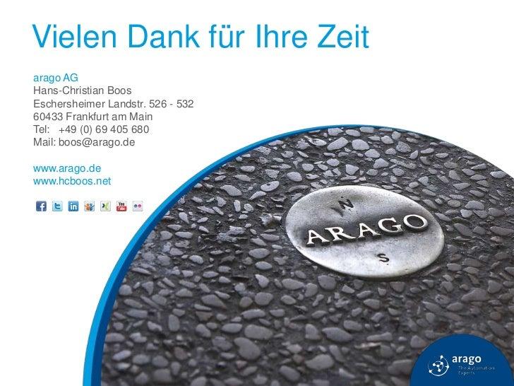 Vielen Dank für Ihre Zeitarago AGHans-Christian BoosEschersheimer Landstr. 526 - 53260433 Frankfurt am MainTel: +49 (0) 69...