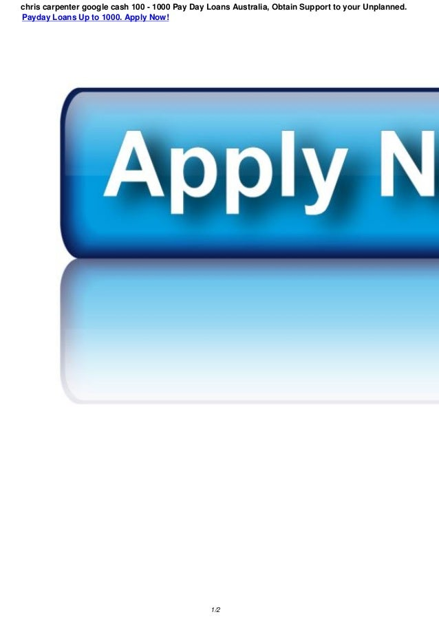 Payday Loans For Carpenter