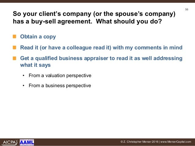 I Don'T Buy It: The Effect Of Buy-Sell Agreements In Divorce
