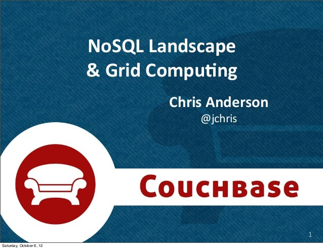 NoSQL Landscape                          & Grid Compu7ng                                     Chris Anderson       ...