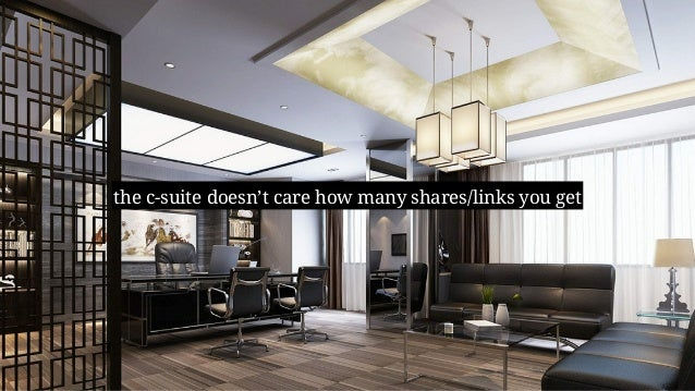 the c-suite doesn't care how many shares/links you get