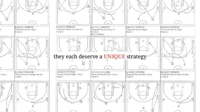 they each deserve a UNIQUE strategy
