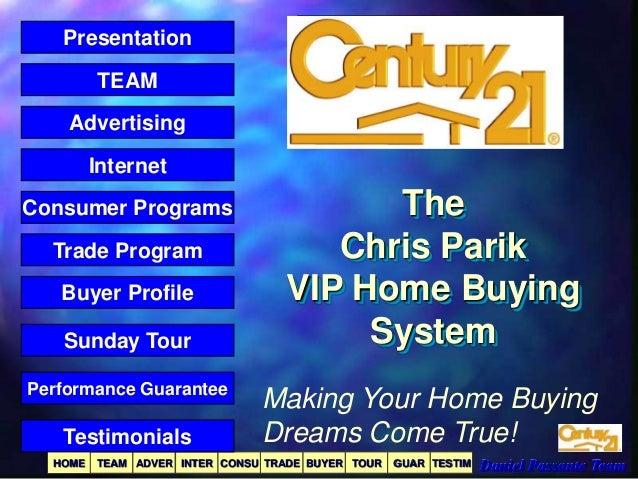 Presentation TEAM Advertising  Internet Consumer Programs Trade Program Buyer Profile Sunday Tour Performance Guarantee  T...