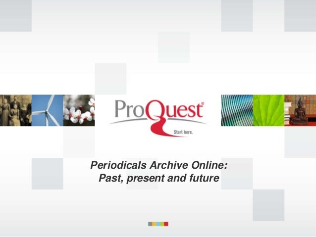 Periodicals Archive Online: Past, present and future