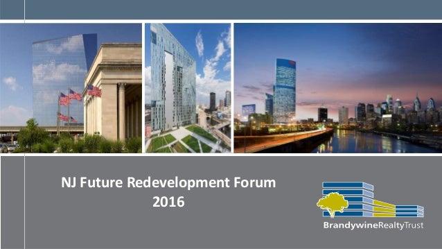 NJ Future Redevelopment Forum 2016