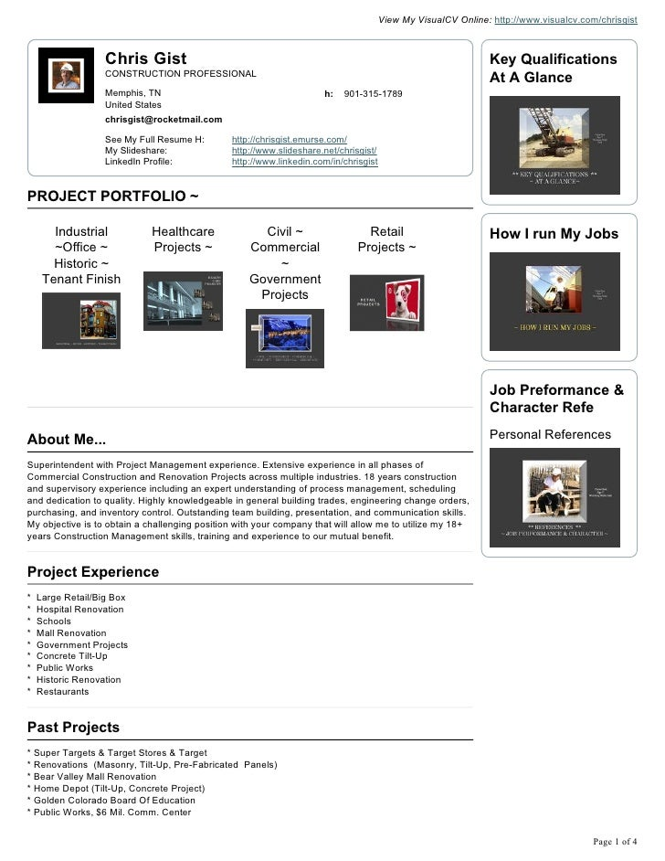 View My VisualCV Online: http://www.visualcv.com/chrisgist                      Chris Gist                                ...