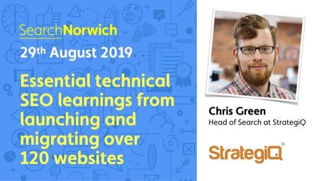 Search Norwich 29th August 2019 @chrisgreen87 strategiq.co