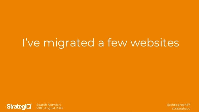 Essential technical SEO learnings from launching and migrating over 120 websites - Chris Green - SearchNorwich 8 Slide 2