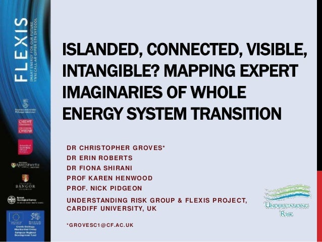 ISLANDED, CONNECTED, VISIBLE, INTANGIBLE? MAPPING EXPERT IMAGINARIES OF WHOLE ENERGY SYSTEM TRANSITION DR CHRISTOPHER GROV...