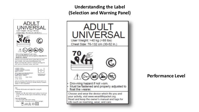 Understanding the Label (Design Specifics) If the Selection and Warnings Panel isn't located on the inside back at the top...