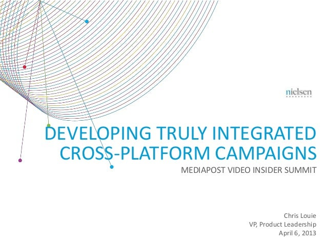 DEVELOPING TRULY INTEGRATED CROSS-PLATFORM CAMPAIGNS             MEDIAPOST VIDEO INSIDER SUMMIT                           ...