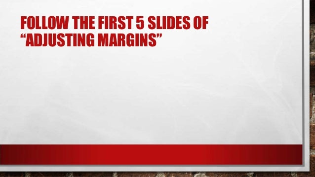 Chris margins pp