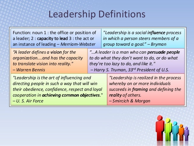 leadership extended definition The youth leadership academy what is the definition of or other forms of assistance that are of lifelong or extended duration and are.