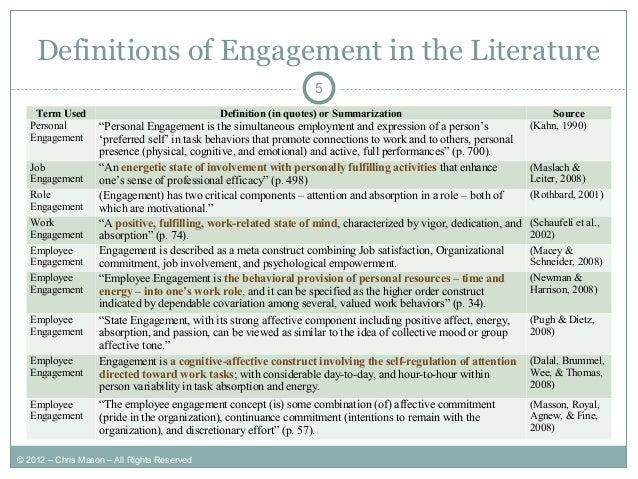 Modeling Employee Engagement (a Ph.D. Dissertation Summary)