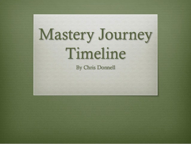 Mastery Journey  Timeline  By Chris Donnell