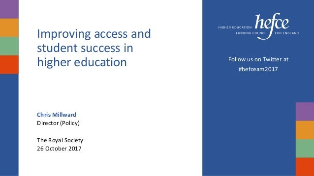 Improving access and student success in higher education ...