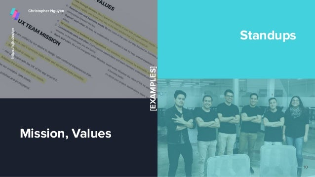 Mission, Values Standups 10 [EXAMPLES]