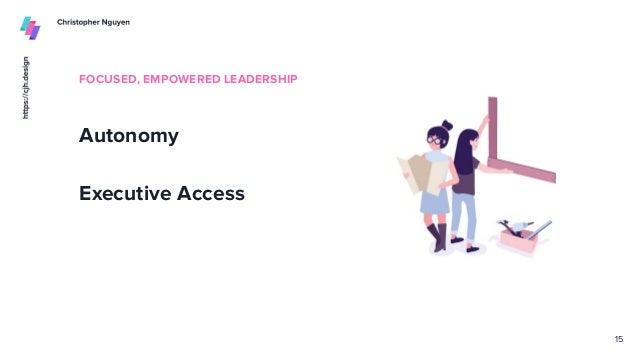 FOCUSED, EMPOWERED LEADERSHIP Autonomy Executive Access 15