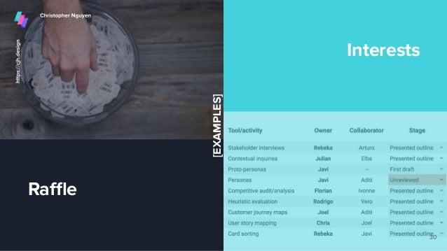 Raffle Interests 30 [EXAMPLES]