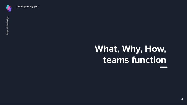 What, Why, How, teams function 4