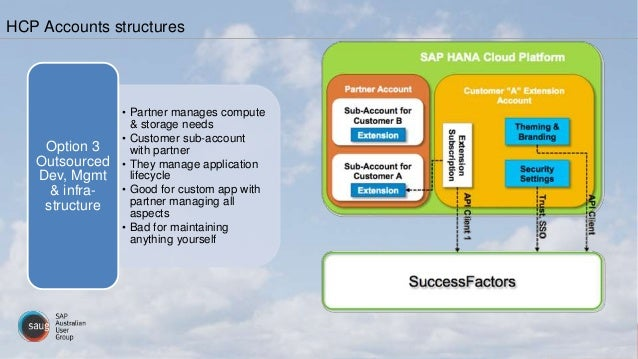 • Partner manages compute & storage needs • Customer sub-account with partner • They manage application lifecycle • Good f...