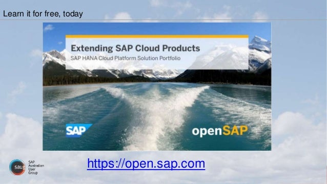 Learn it for free, today https://open.sap.com