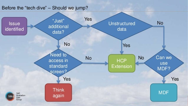 """Before the """"tech dive"""" – Should we jump? Issue identified Need to access in standard screen? """"Just"""" additional data? HCP E..."""