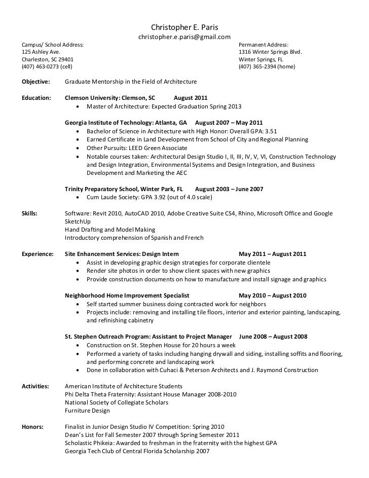 Leed Green Associate Resume Sample