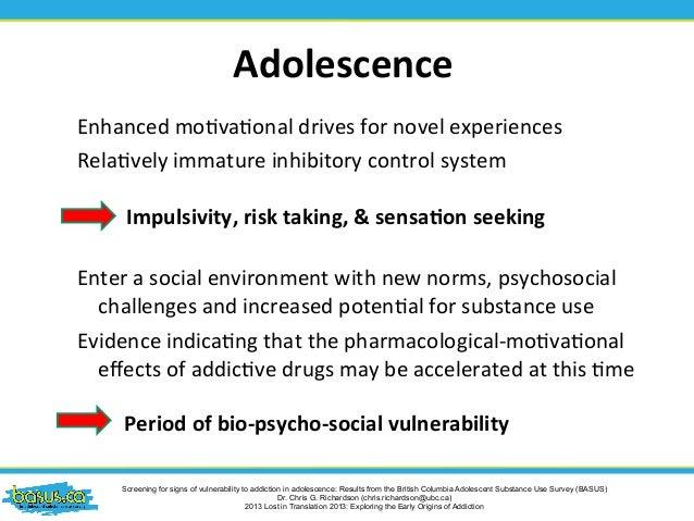 Addiction in adolescents.