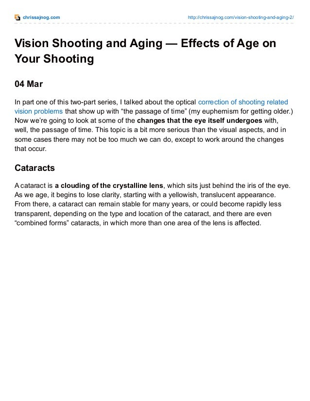 34d26ddbab Vision Shooting and Aging  The Effects of Age on Your Shooting