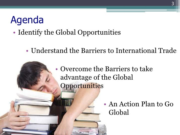 Internationalization opportunities and barriers