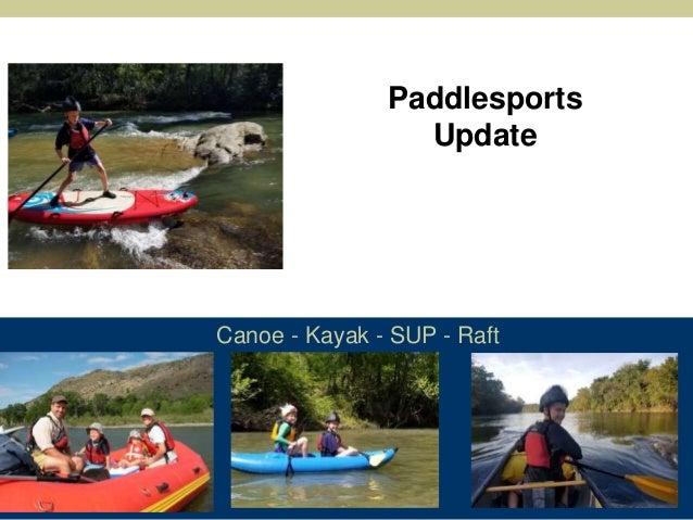 Canoe - Kayak - SUP - Raft Paddlesports Update