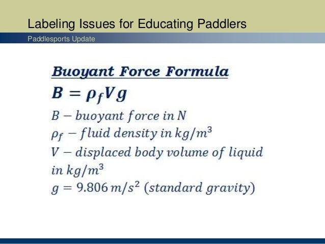 Labeling Issues for Educating Paddlers Paddlesports Update