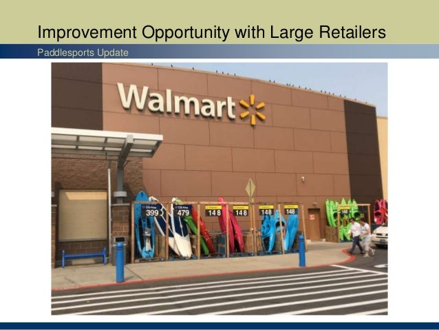 Improvement Opportunity with Large Retailers Paddlesports Update