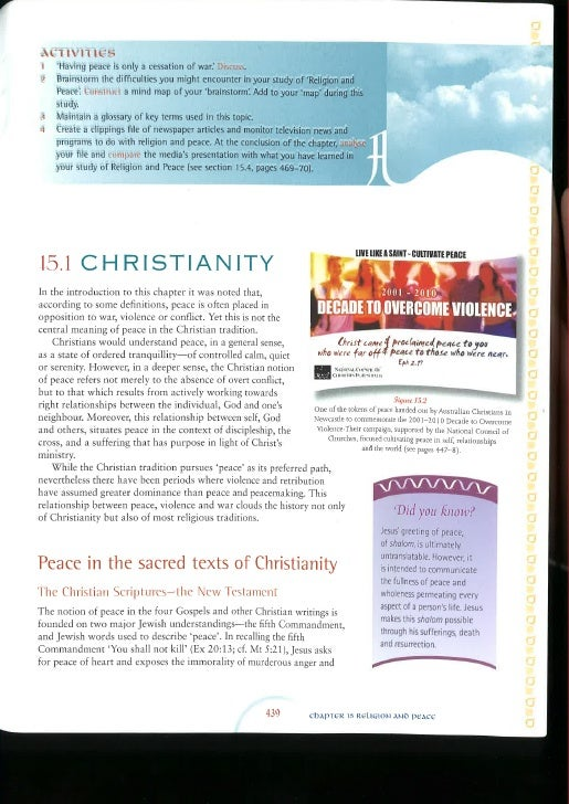 Christanity and Peace from Living Religion