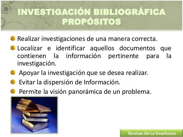 Técnica investigación bibliográfica bye Chris Slide 3