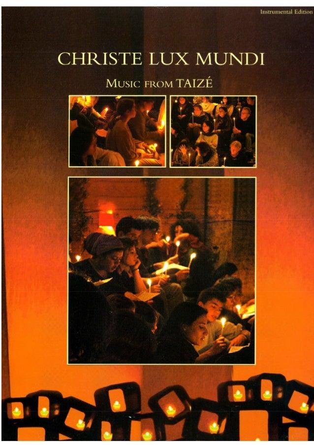 Christe lux mundi taize Partituras instrumental