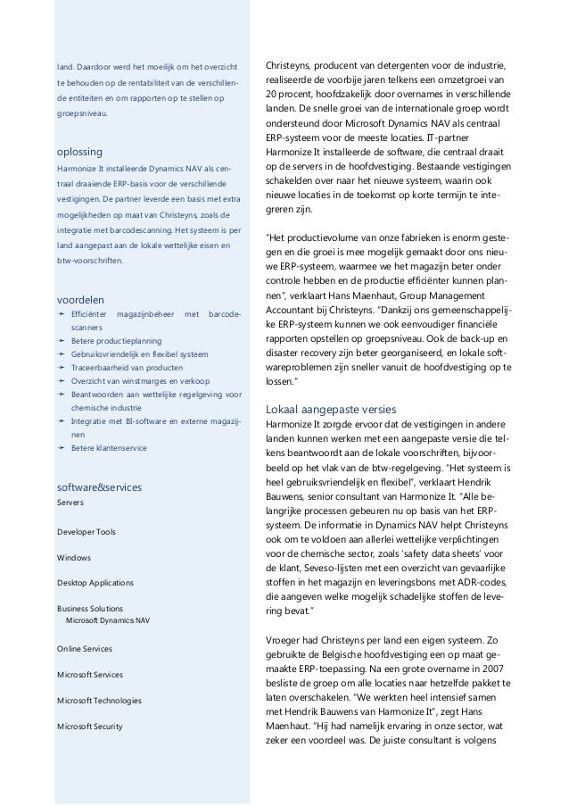 Christeyns bouwt internationale activiteiten sneller uit met Dynamics NAV Slide 2
