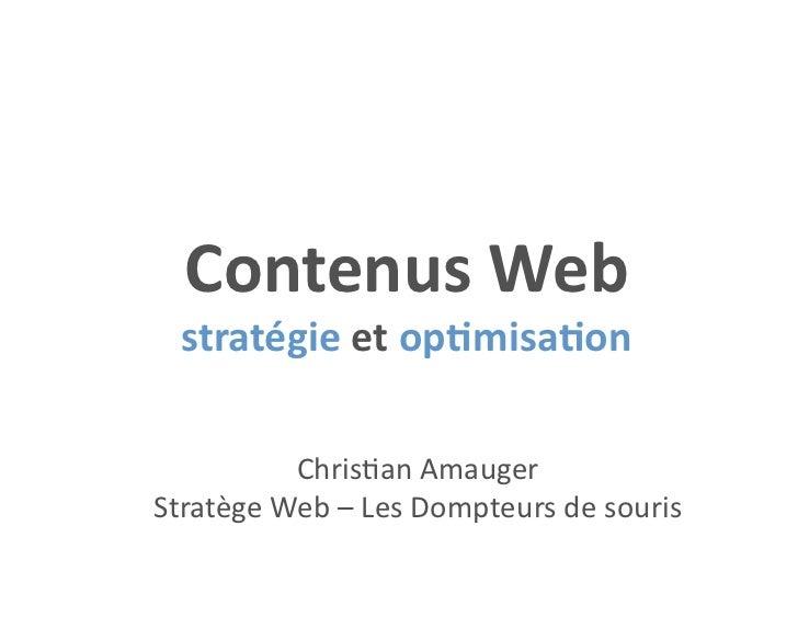 ContenusWeb stratégieetop1misa1on          Chris&anAmaugerStratègeWeb–LesDompteursdesouris