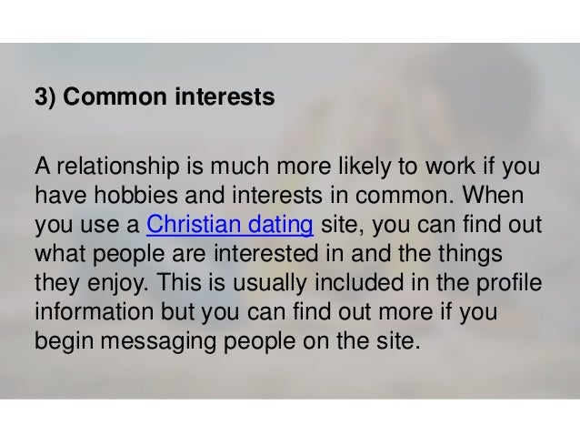 Dating profile interests and hobbies