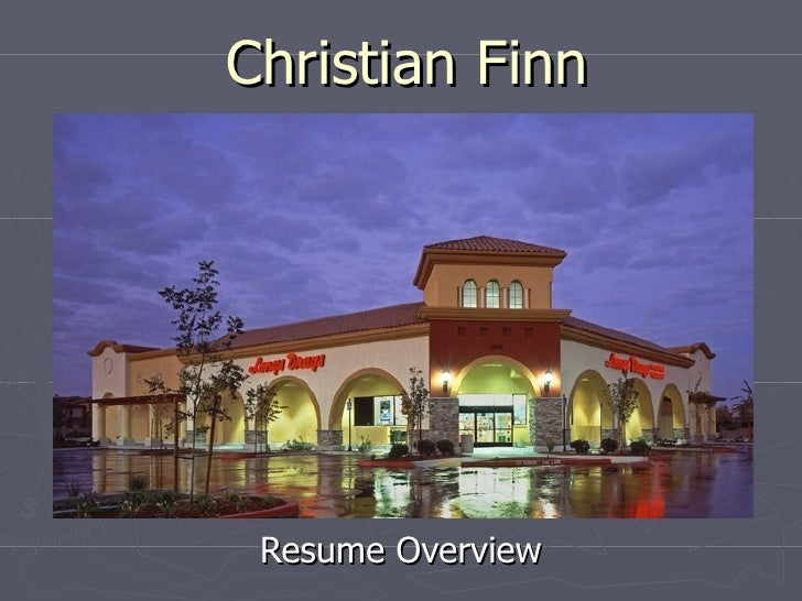 Christian Finn Resume Overview