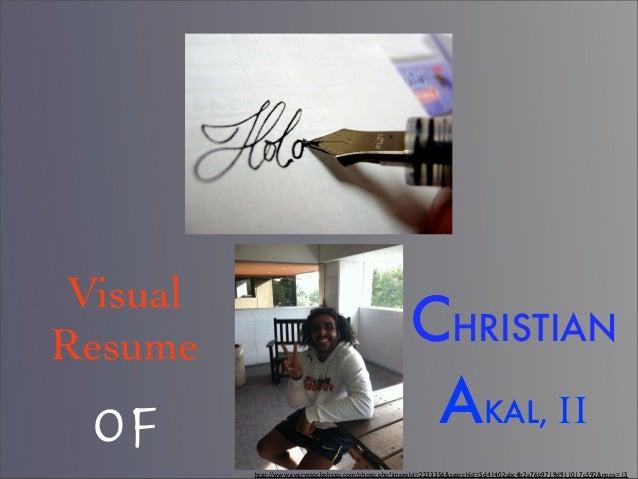 VisualResume                                                CHRISTIAN OF                                                  ...