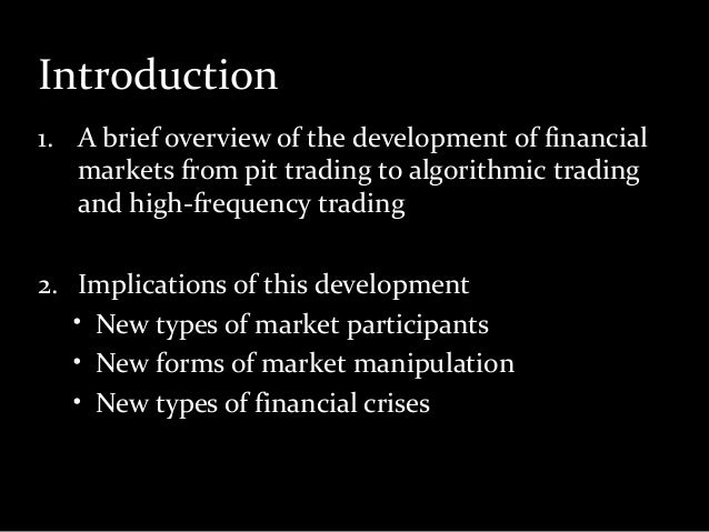 Types of algo trading strategies