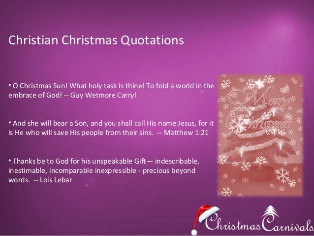 christian christmas quotations