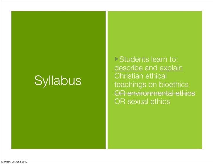 Religion and Bioethics