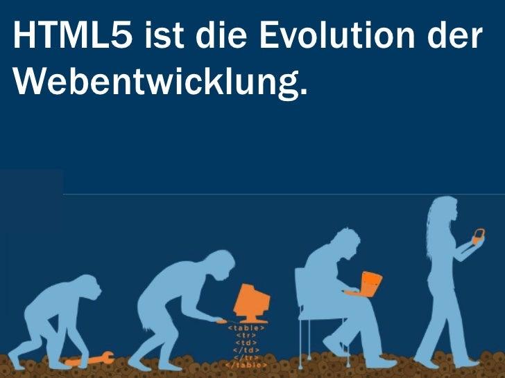 HTML als Evolution?