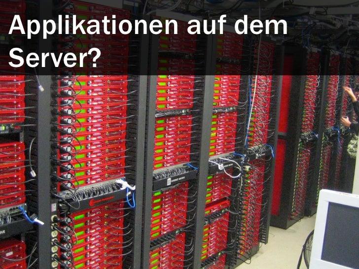 Arbeitsteilung: Server undClient.