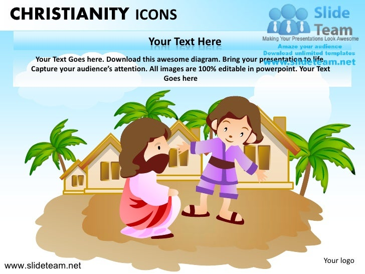 CHRISTIANITY ICONS                                       Your Text Here      Your Text Goes here. Download this awesome di...